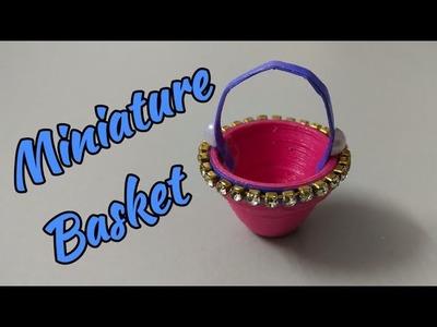 Miniature Basket | DIY Miniature Basket | How to make Miniature Quilling Basket | Mini Paper Basket