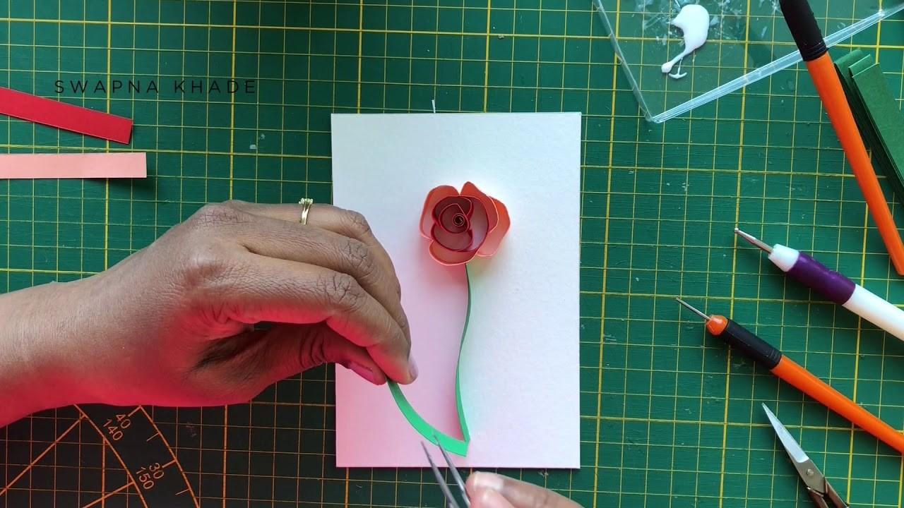 Mira's Craft   Quilling Spring Flower making