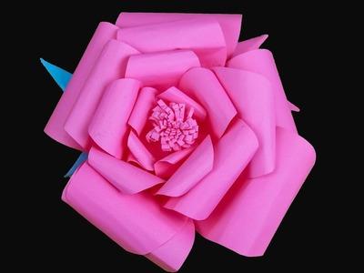 Paper flowers rose diy tutorial easy for children | Diy Rose Tutorial |  paper crafts for kids