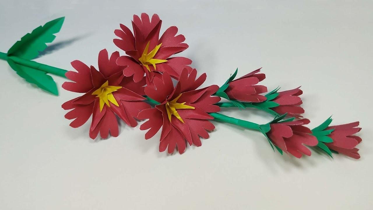 Paper Stick Flower: Easy Way to Make Paper Flower - DIY Paper Flower - Abigail Paper Crafts