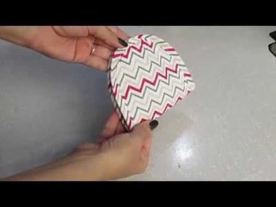Porta ABSORVENTE com viés - DIY - Tutorial -women's handbag sewing