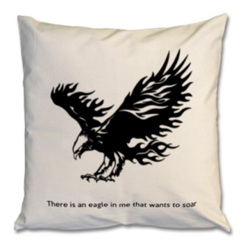 Cushion | There is an eagle in me that wants to soar
