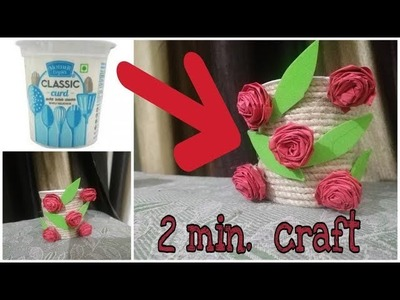 Waste material reuse idea | Best out of waste | DIY arts and crafts | recycling  Dahi Cups