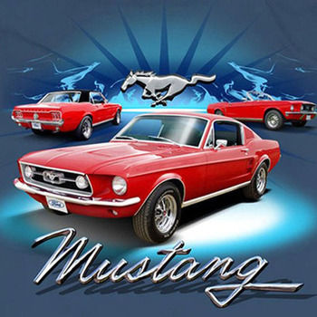 CRAFTS 1968 Ford Mustang Cross Stitch Pattern***LOOK***