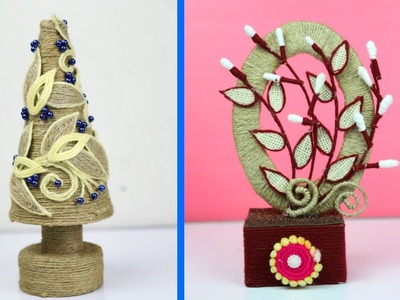 2 Easy Room Decor Showpiece Ideas Using Jute   Jute Craft Idea   Home Decoration DIY