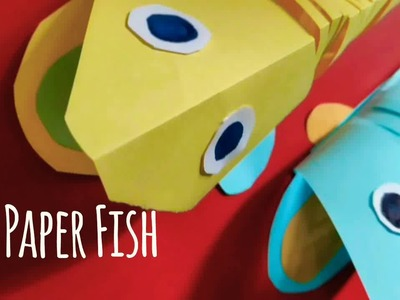 3D paper fish for kids || Paper toy for kids || paper craft ideas