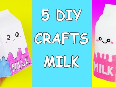 5 DIY crafts MILK | Amazing craft ideas