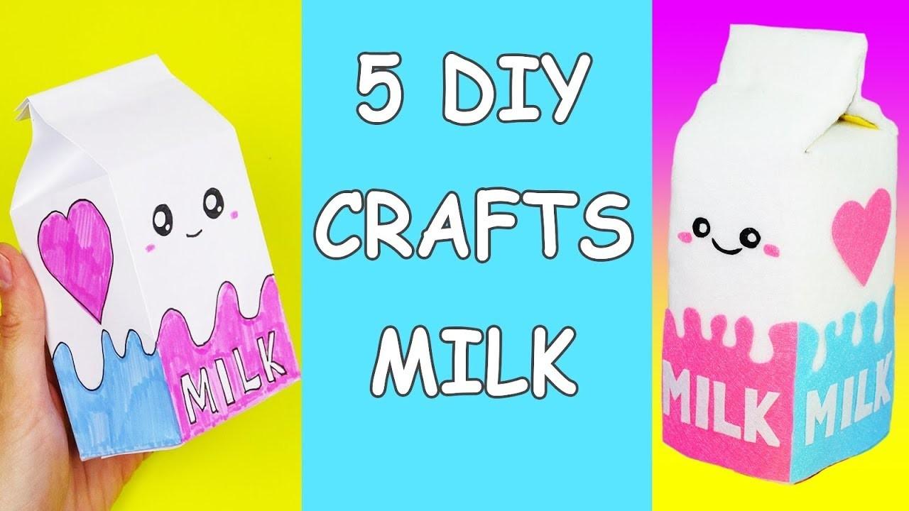 5 DIY crafts MILK   Amazing craft ideas