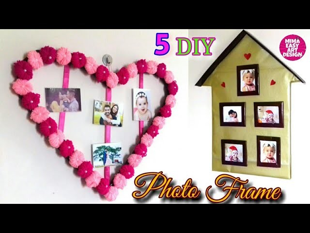 5 TYPES OF DIY CRAFTY PHOTO FRAME .BEST OUT OF WASTE DIY PHOTO FRAME #westmathibest