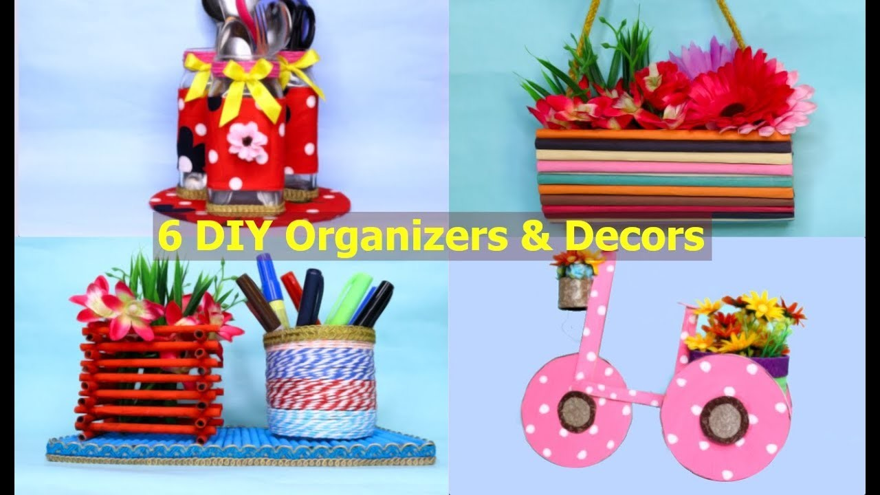 6 Awesome DIY Home Organizers and  Decor Projects to Decorate Your Home By Aloha Crafts