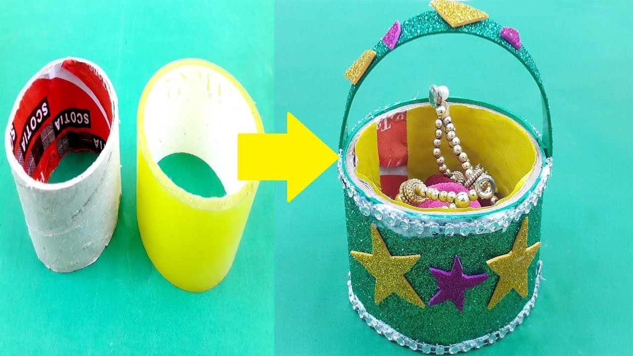 Amazing diy recycling idea | best out of waste | how to make tape roll gift basket