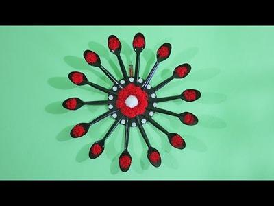 Amazing Home Decor with Plastic Spoon!   DIY Plastic spoon craft idea   DIY Projects