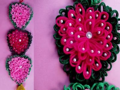 Amazing Woolen Craft Idea||How to Make Door.Wall Hanging Using Woolen||Crafts Talent.