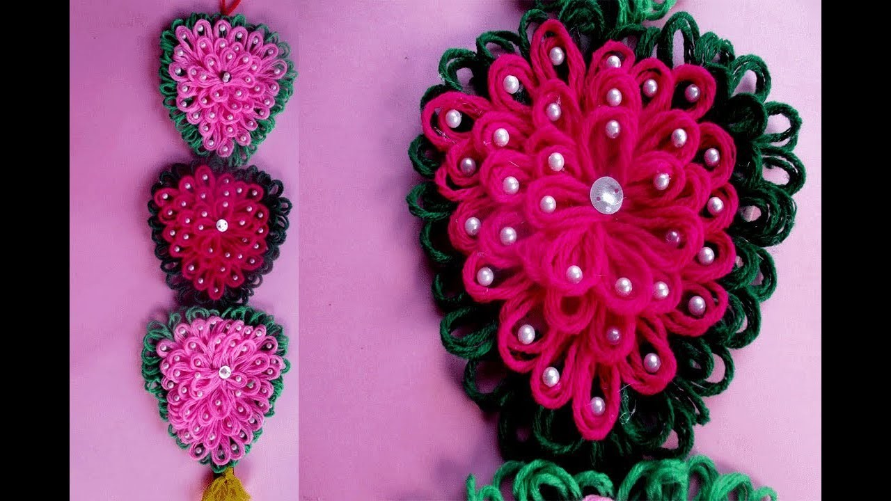 Amazing Woolen Craft Idea||How to Make Door.Wall Hanging Using Woolen||Crafts Talent.