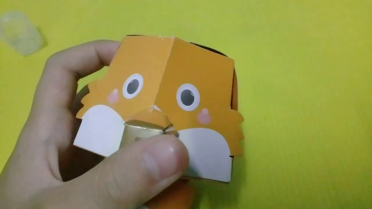 Animal paper craft;FOX