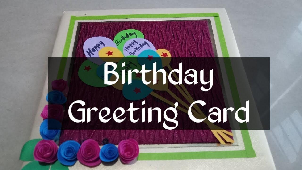 Beautiful Birthday Greeting Card Idea | DIY Birthday card | complete tutorial by Pooja's Art Gallery