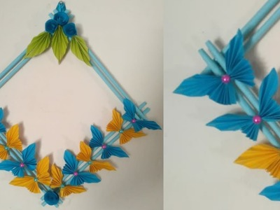 Beautiful butterfly wall hanging from craft paper