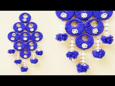 Beautiful wall hanging diy craft.diy crafts.woolen crafts