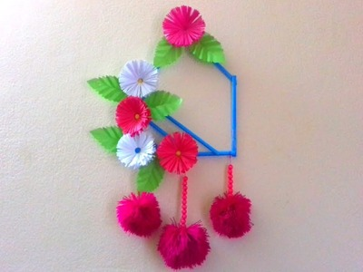 Beautiful wall hanging with colourful paper. DIY.craft idea. How to make Wall decoration idea.