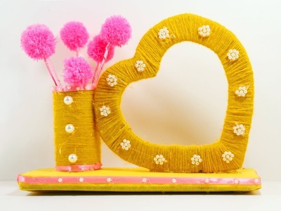 Best Out of Waste Carton Box | Awesome Woolen Show Piece Craft Idea | Recycled Material Craft