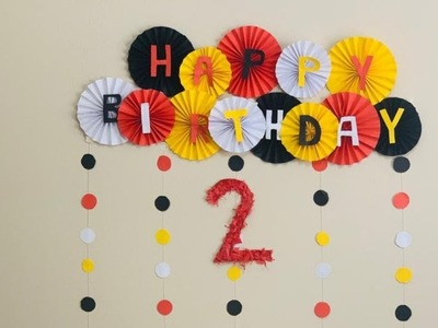 Birthday decoration at home. Very Easy Paper Decoration Ideas. Paper Craft