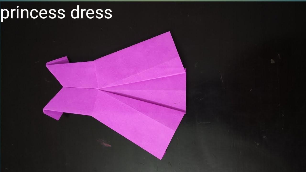 Craft for kids - 2 | Princess Dress using origami paper