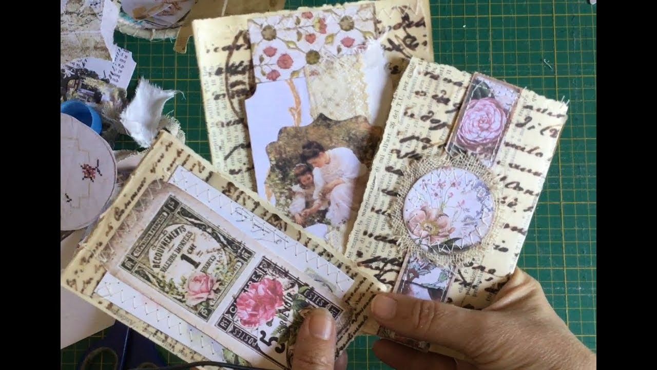 Craft with me | the 100 day project | day95 making tuck journaling spots with printed tracing paper