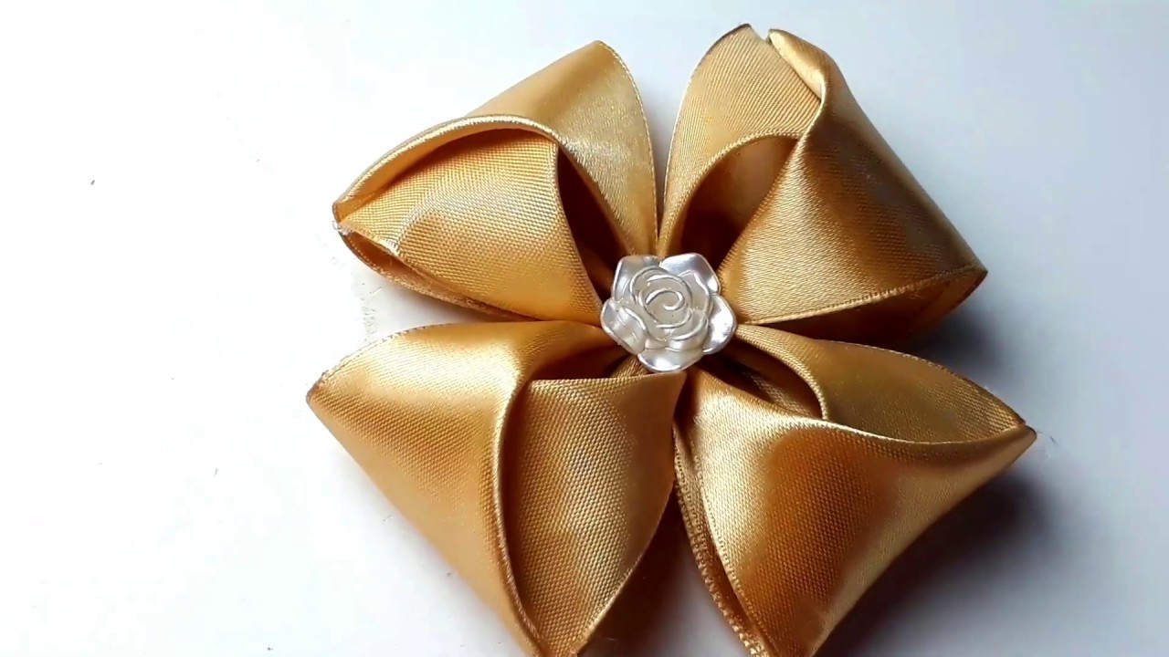 Creative Ribbon Craft Idea | DIY Ribbon Flower making idea
