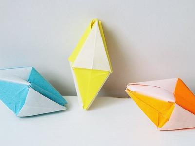 DIY 61   ????Origami Diamond ???? - Diamond with triangles
