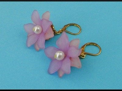 DIY | Beaded Flower Earrings | Summer Jewelry | Blumen Perlen Ohrringe