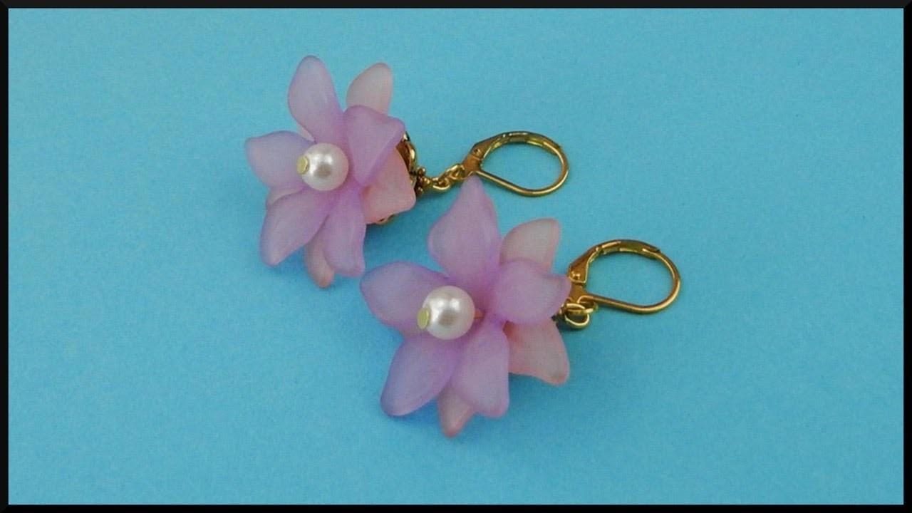 DIY | Beaded Flower Earrings | Summer Jewelry | Blumen Perlen Ohrringe