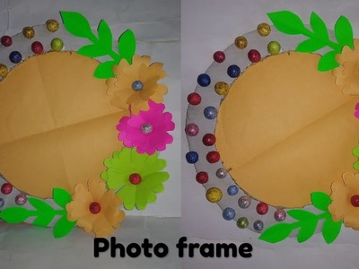 DIY Beautiful circle shape photo frame !! Photo frame craft !! Craft ideas (22funmedia)