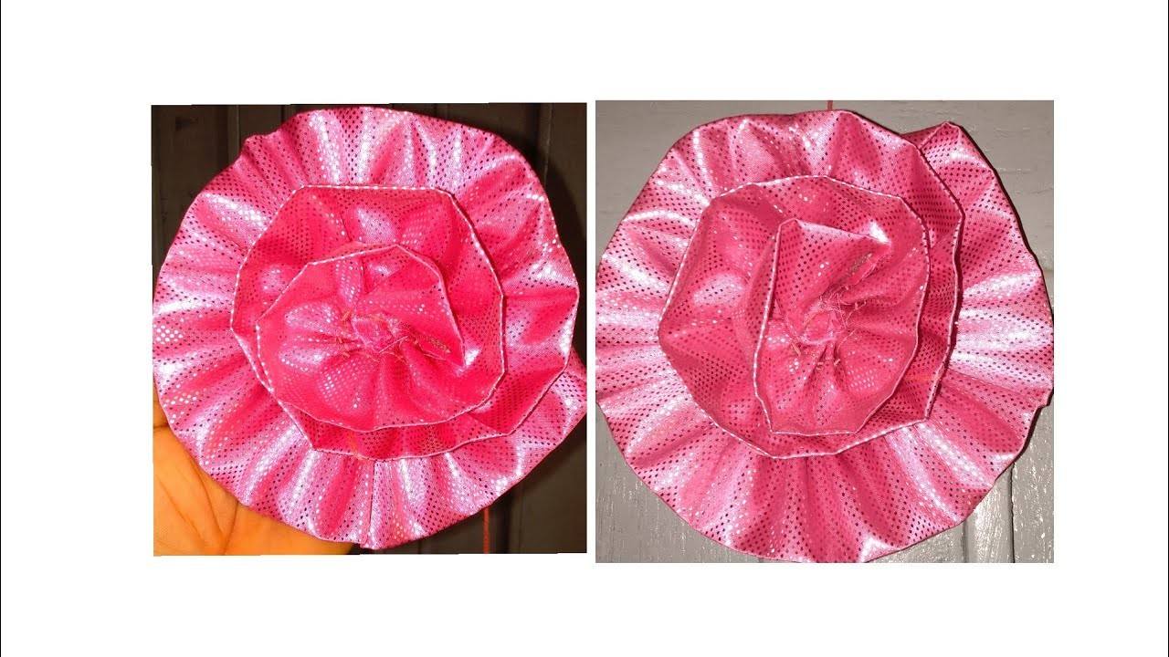 DIY beautiful fabric flower ,spend less on flower purchase (The needle woman)