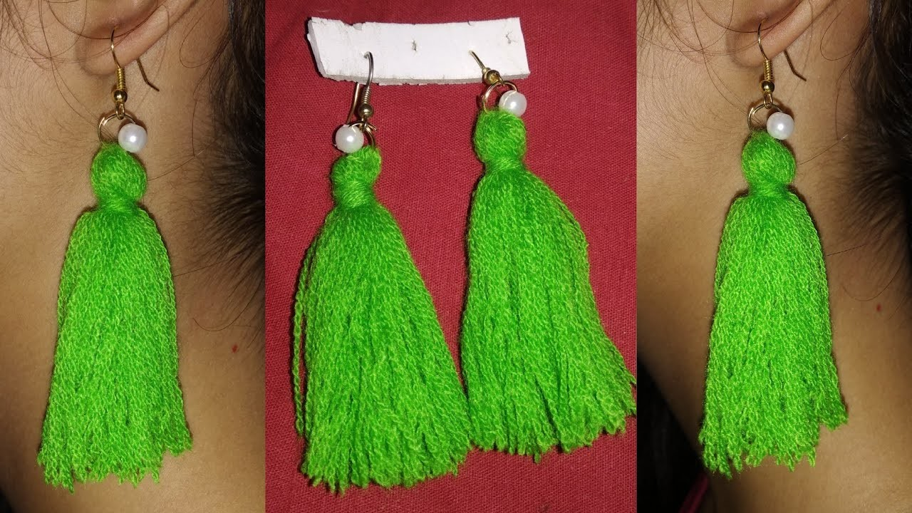 DIY Beautiful taseel Earing!! Taseel Earing craft!! Earing craft ideas (22funmedia)