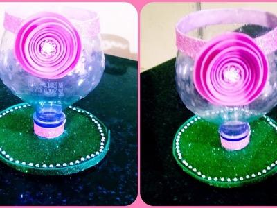 DIY BOTTLE GLASS CRAFT | DECORATIVE BOTTLE GLASS