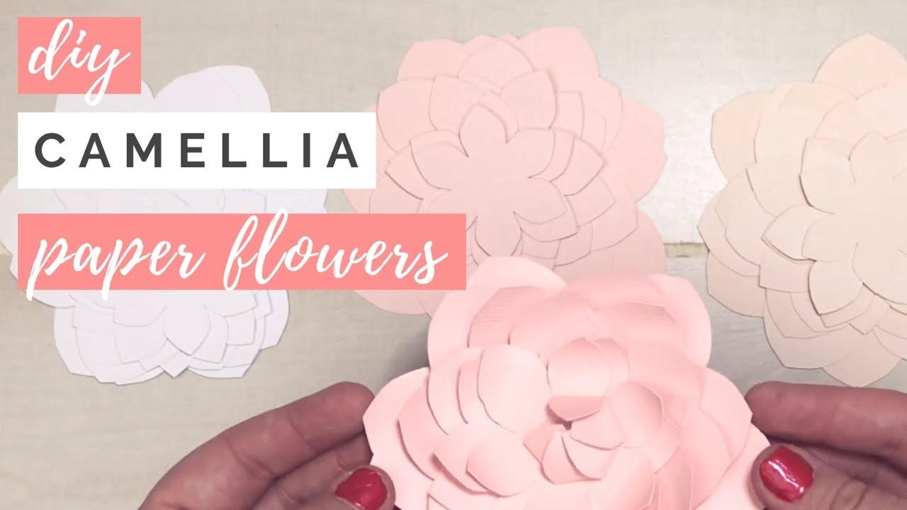 DIY Camellia Paper Flower Tutorial & Flower Template
