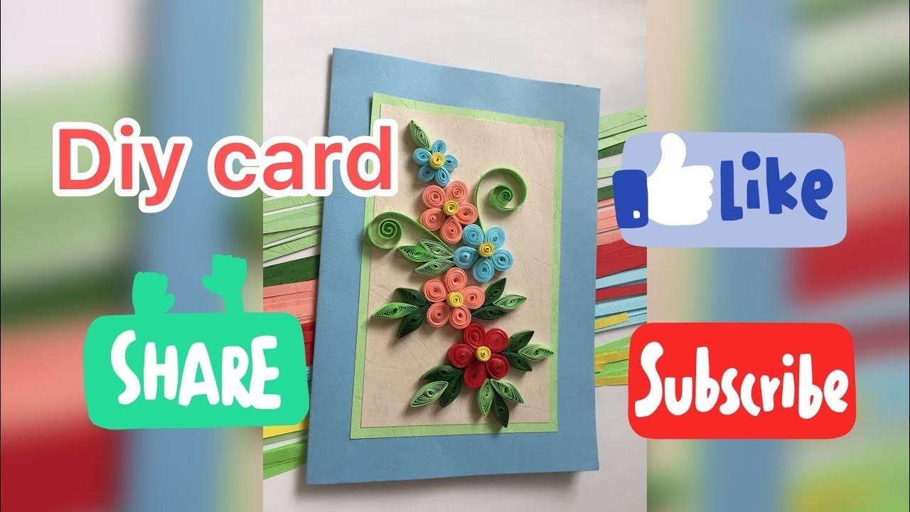 DIY card,, Quilling Tutorial
