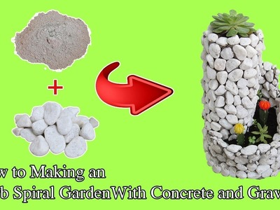DIY Craft Ideas | How to Easily Making an Spiral Garden with Concrete and Gravel