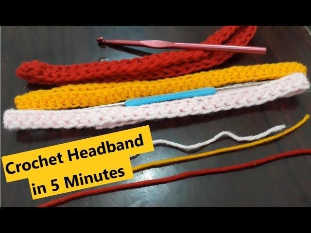 DIY Crochet Headband in 5 Minutes