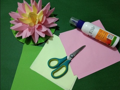 DIY Easy Paper Craft - Lotus Flower
