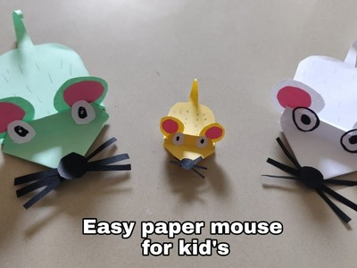 Diy easy Paper mouse  paper craft  #papermouse #diymouse #Artandcraft