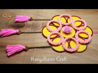 DIY Hair Rubber Bands & Old Bangles Craft Idea || DIY art and craft with Rangdhanu Craft
