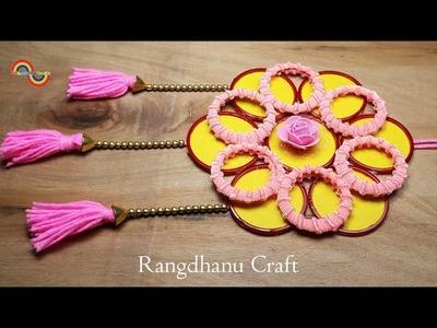 DIY Hair Rubber Bands & Old Bangles Craft Idea || DIY art and craft with Rangdhanu Craft