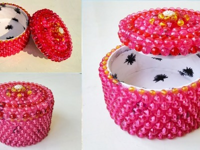 DIY, How To Make Jewelry Box At Home, beads craft, beads craft ideas, jewelry box diy