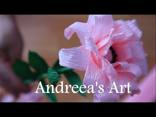 DIY. How To Make Rose Paper Flower | Easy Craft | Andreea's Art