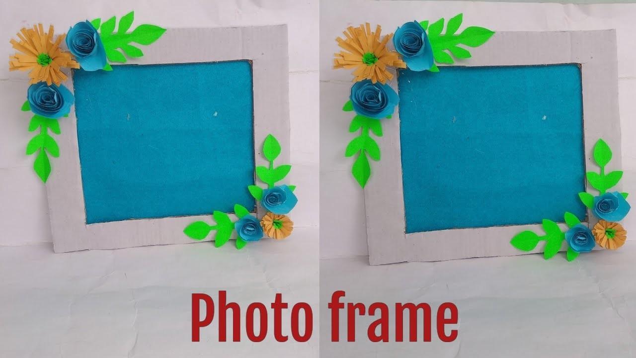 DIY New Beautiful photo frame !! Photo frame craft ideas!!NewDiY(22funmedia