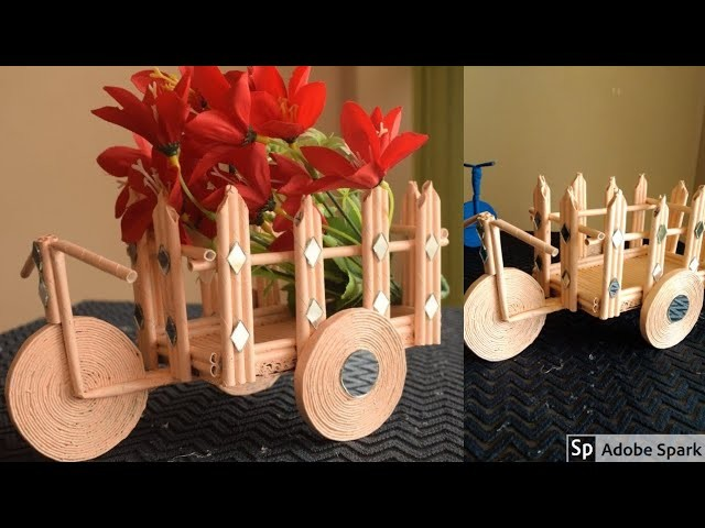 DIY Newspaper cycle decorative piece | Best out of waste craft idea | parul pawar