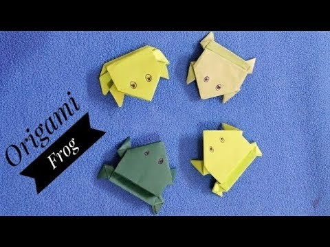 DIY Origami Jumping Frog ???? ????.How to make paper Frog-Step by step tutorial. School paper craft idea
