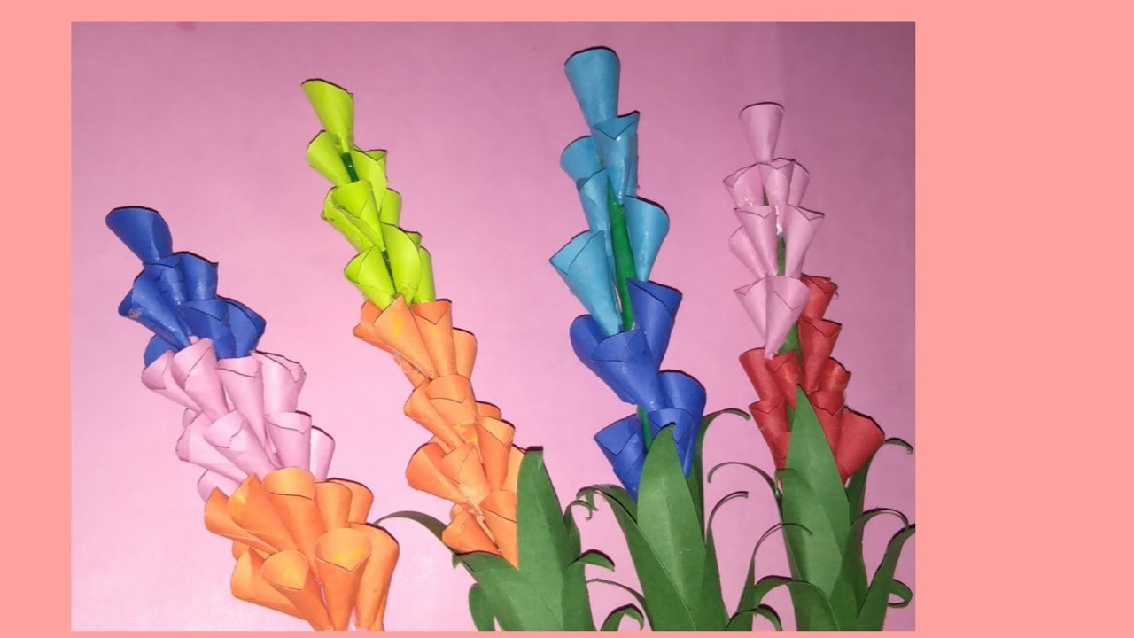 Diy paper flower.handmade paper craft.