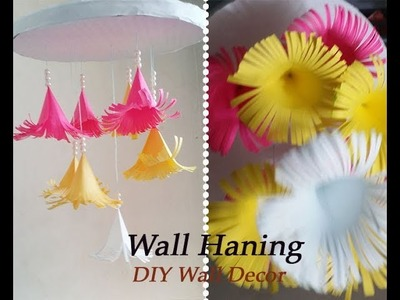 DIY Paper Flower Wall Hanging | Home Decoration Ideas | Wall Hanging DIY Craft